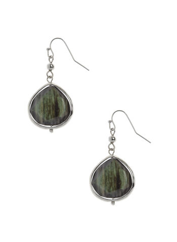 Marbled Stone Drop Earrings, , hi-res