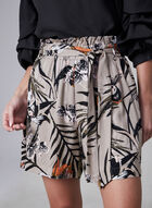 Tropical Print Shorts, Brown, hi-res