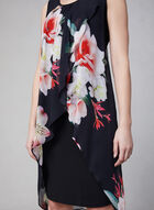 Frank Lyman - Chiffon Wrap Dress, Black, hi-res