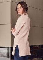 Mock Neck Tunic Sweater, Pink