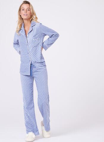 Geometric Print Pyjama Set, , hi-res