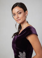 Alex Evenings - Robe drapée en velours, Violet