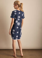 Comfort & Co. - Short Sleeve Floral Print Nightgown, Blue
