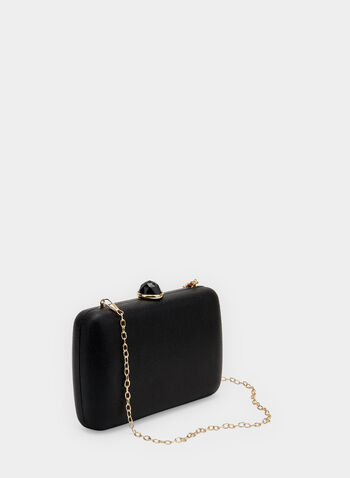 Rectangular Box Clutch, Black, hi-res