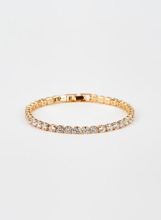 Faceted Crystal Bracelet, Gold