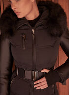 Sicily - Quilted Vegan Leather Coat, Black