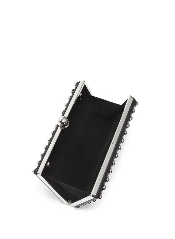 Minaudière carrée à clous, Noir, hi-res