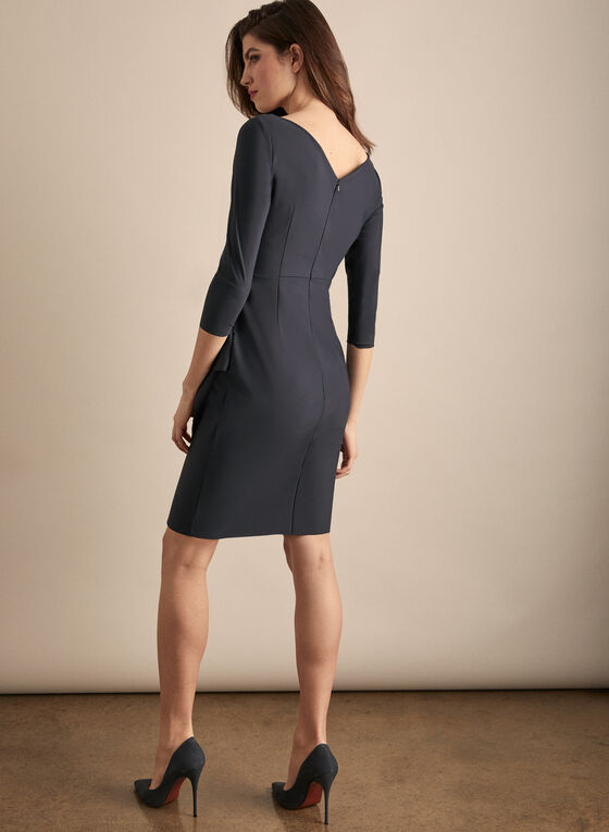 Alex Evenings - Faux Wrap Cocktail Dress, Grey