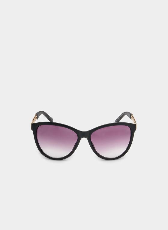 Plastic Butterfly Sunglasses, Black, hi-res
