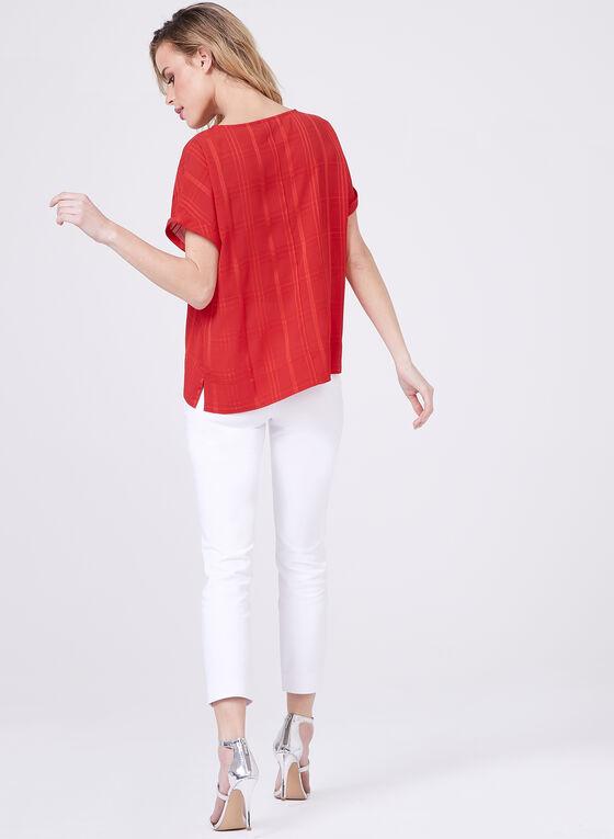 Lily Moss - Haut à imprimé géométrique , Rouge, hi-res