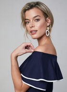 Off-the-Shoulder Top, Blue, hi-res