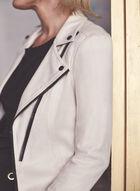Vex - Veste à zips contrastants, Blanc cassé