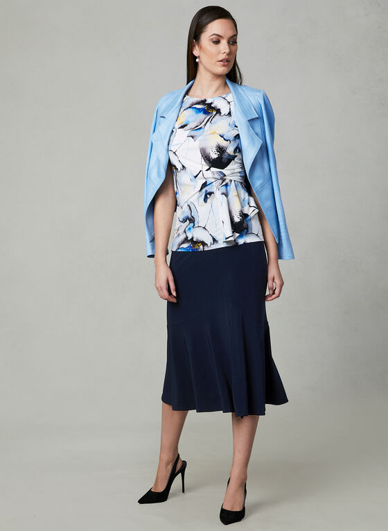 Joseph Ribkoff - Flared Hem Skirt, Blue, hi-res