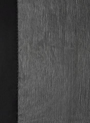 Foulard léger en mousseline satinée, Noir, hi-res