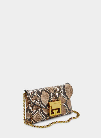 Snakeskin Print Two-in-One Bag, Brown,  belt bag, shoulder bag, handbag, snakeskin print, fall 2019, winter 2019