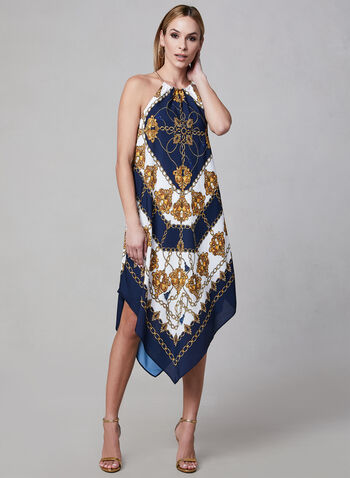 Adrianna Papell - Halter Neck Dress, Blue, hi-res