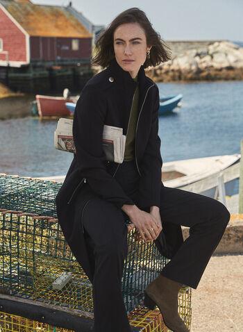 Pantalon Lauren Petite à jambe droite, Noir,  pantalon, droit, lauren, petites, pinces, coutures, automne hiver 2020