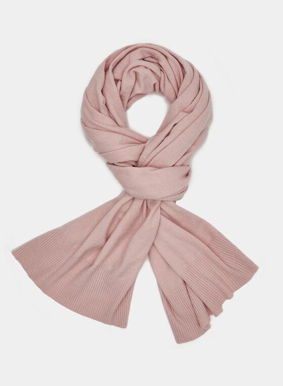 Wool Blend Scarf, Pink, hi-res