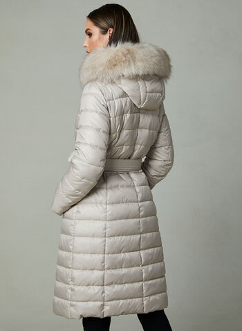 Kenneth Cole - Manteau matelassé en duvet synthétique, Blanc cassé, hi-res