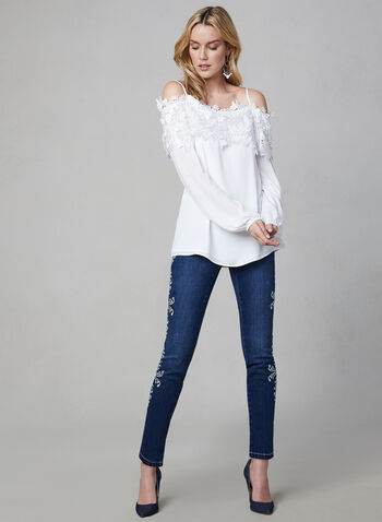 2f5ed6a571f Frank Lyman – Off The Shoulder Lace Collar Blouse