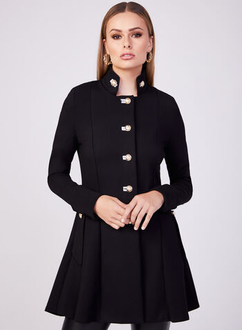 Joseph Ribkoff - Long Structured Jacket, Black, hi-res