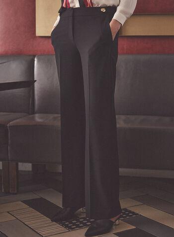 Button Detail Soho Pants, Black,  pants, soho, wide leg, button details, stretchy, spring summer 2021