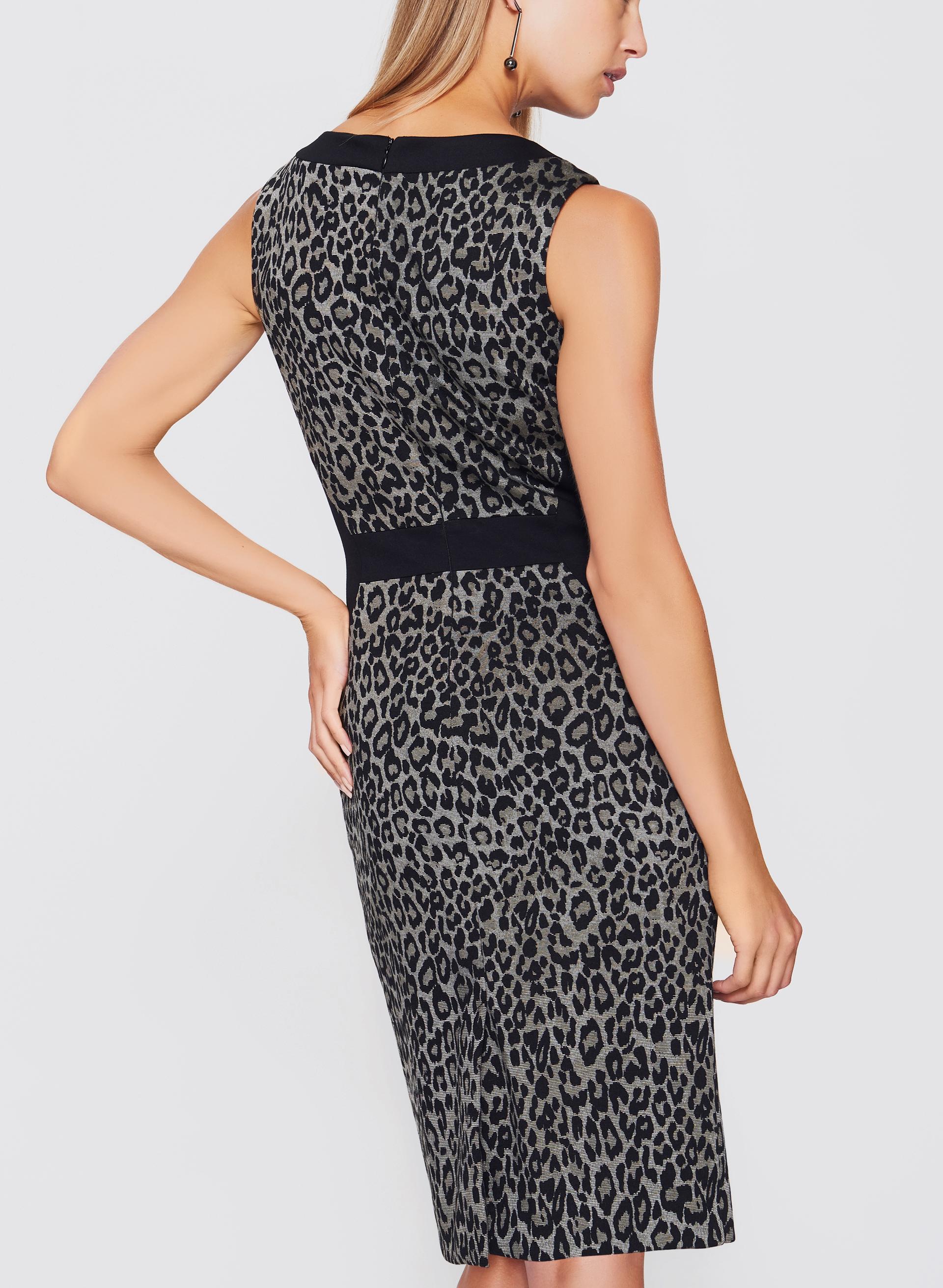 Leopard Print Sheath Dress Melanie Lyne