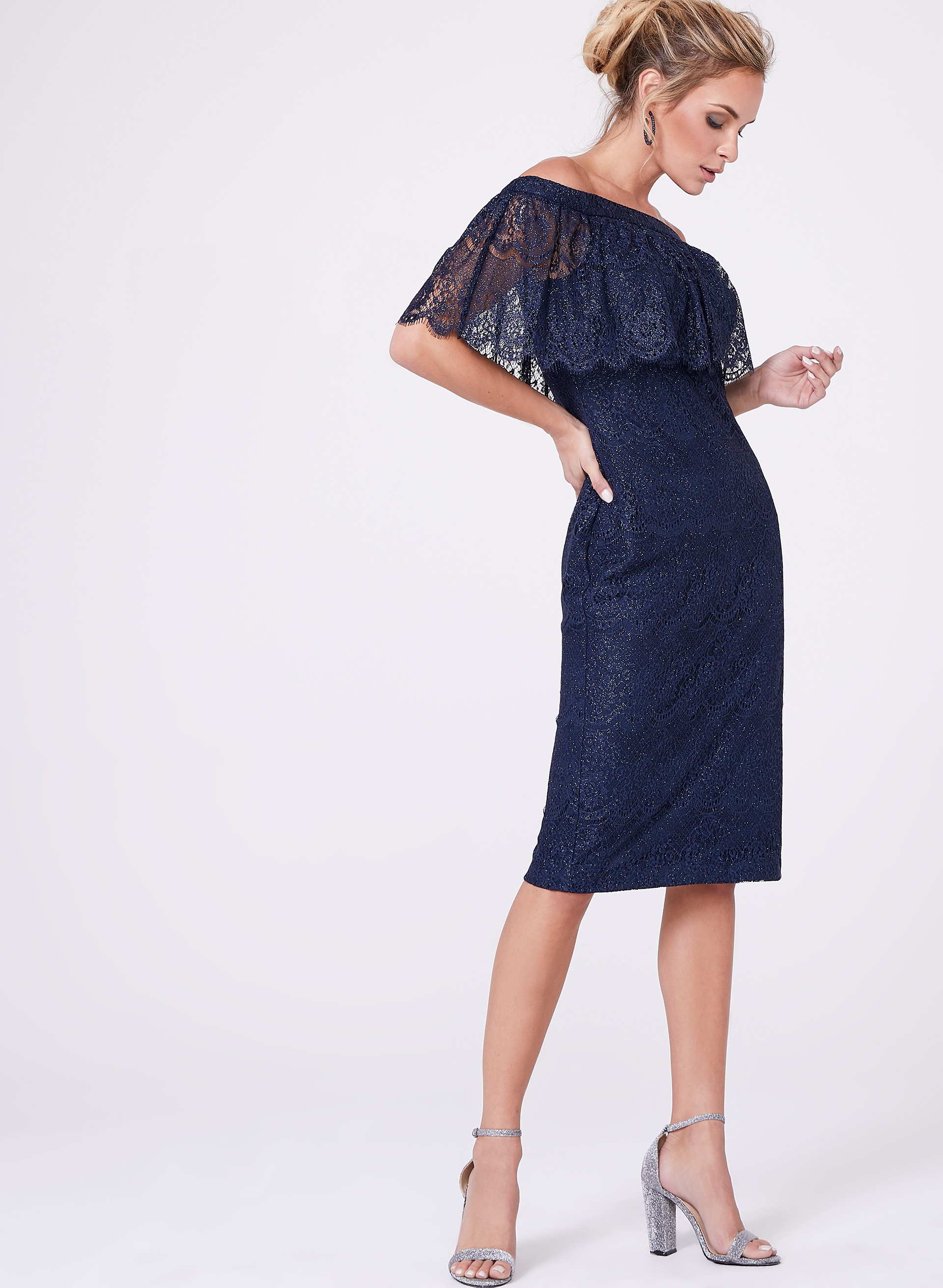Dress up 247 login - Cachet Off The Shoulder Lace Dress
