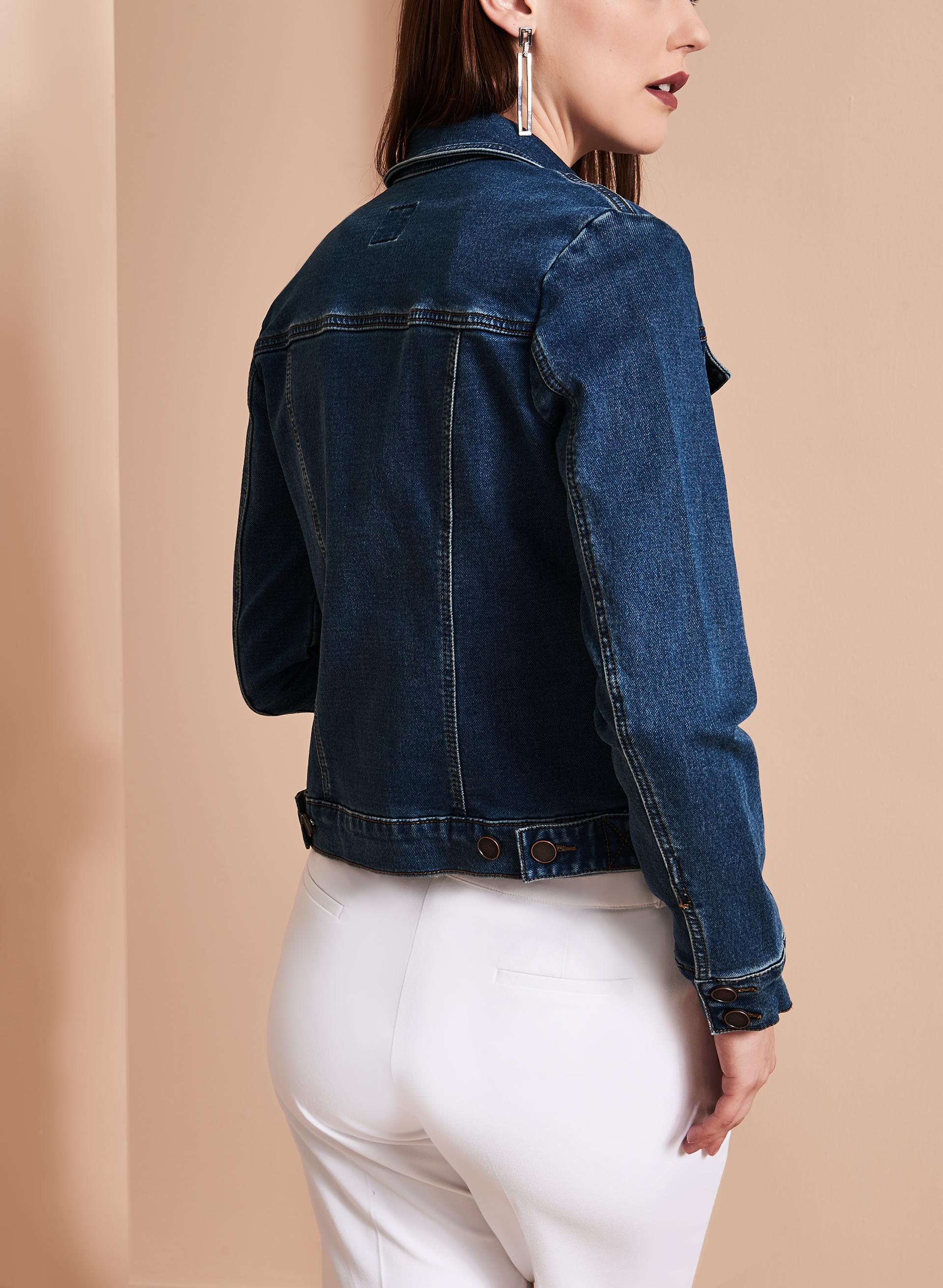 Free Knitting Pattern Cropped Jacket : Cropped Knit Jean Jacket FREE Shipping* Melanie Lyne