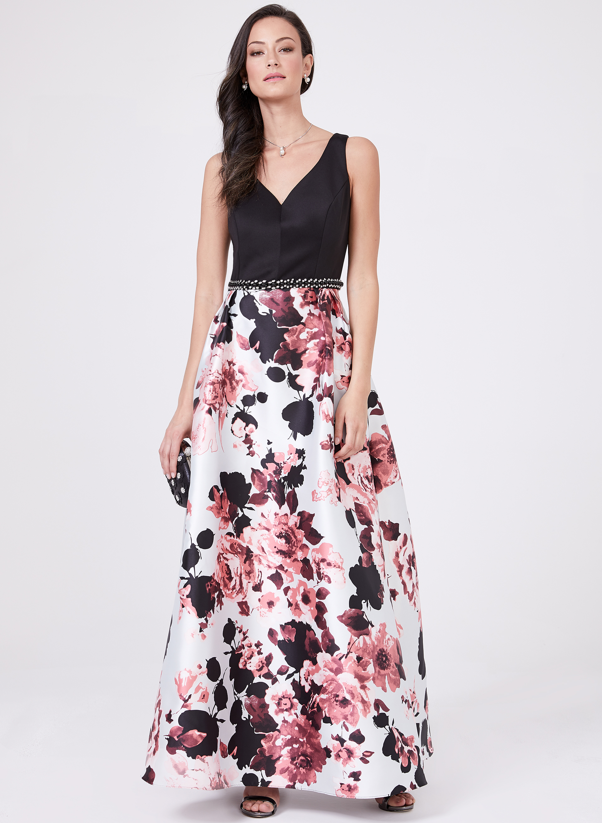 Ignite Evenings – Floral Print Ball Gown | Melanie Lyne