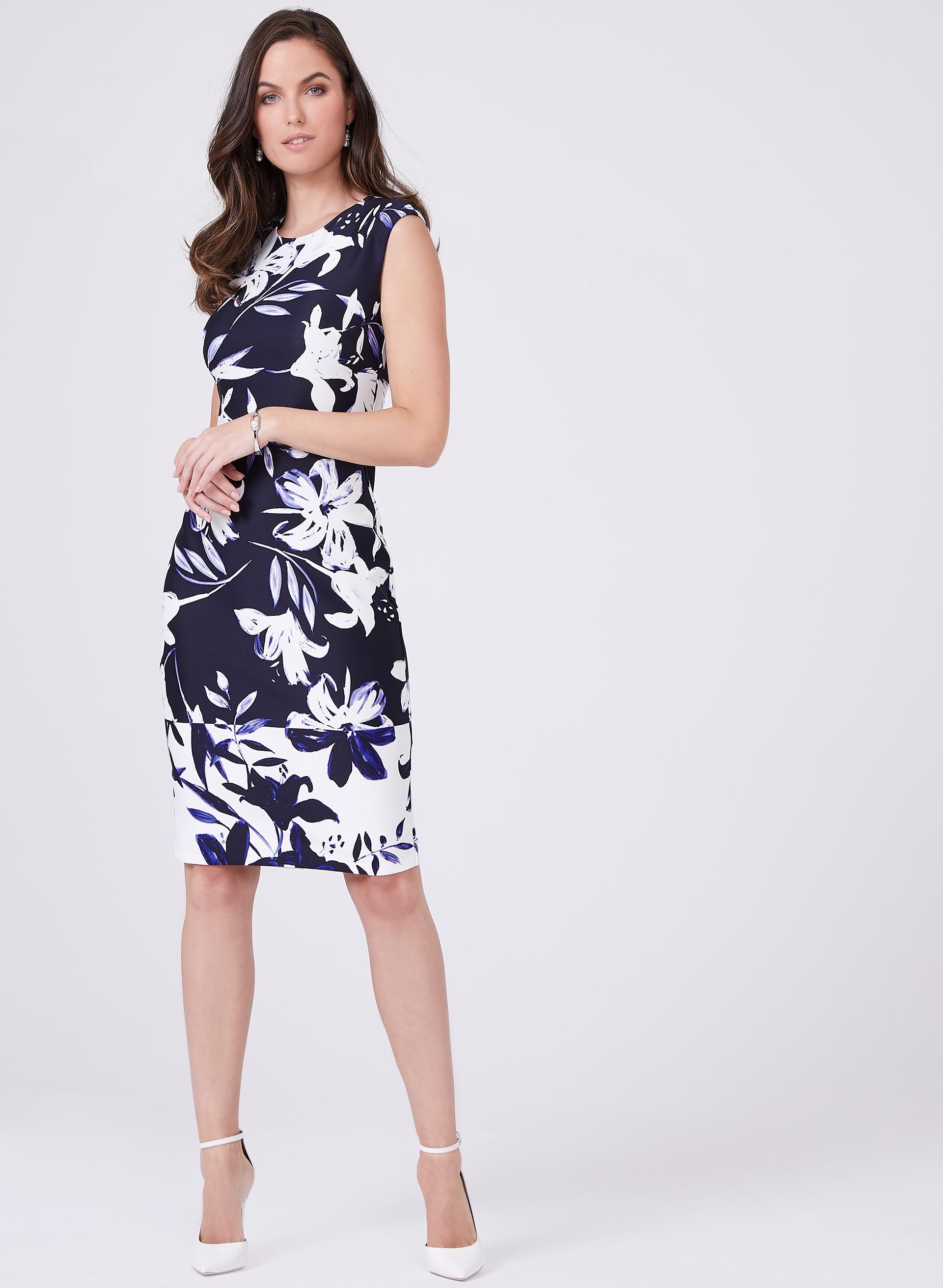 Vince Camuto Floral Sheath Dress Melanie Lyne