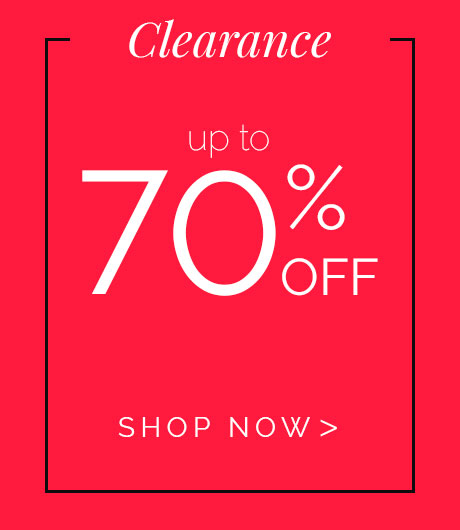 Clearance 70% OFF select styles