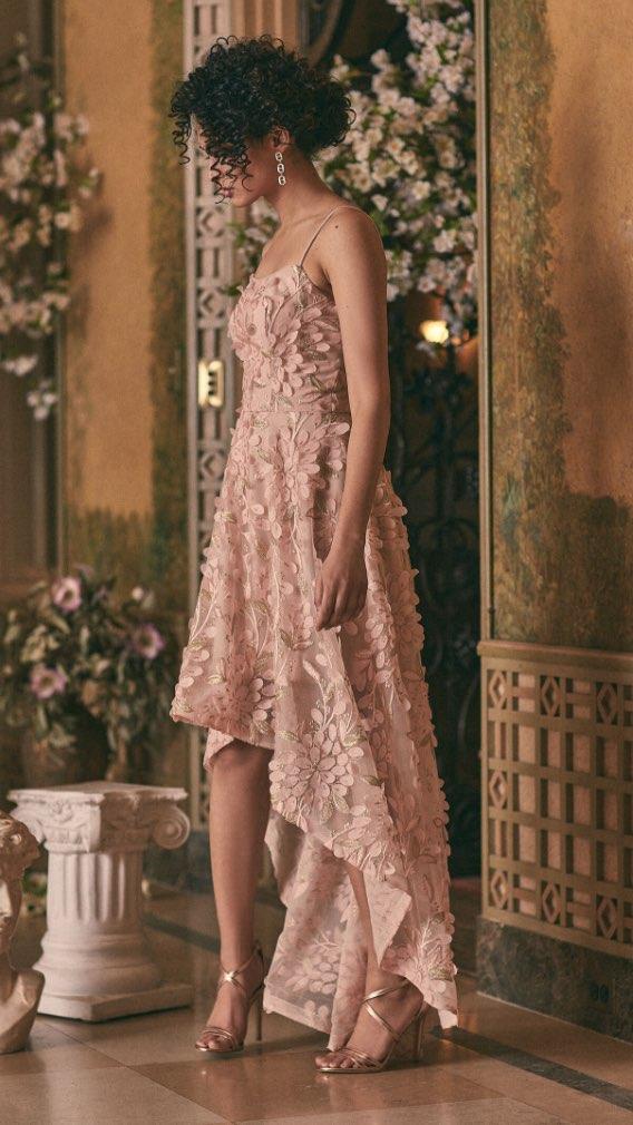 BA Nites - High-Low Chiffon Dress