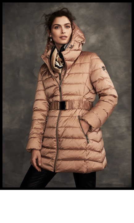 Tahari - Quilted Coat With Hood