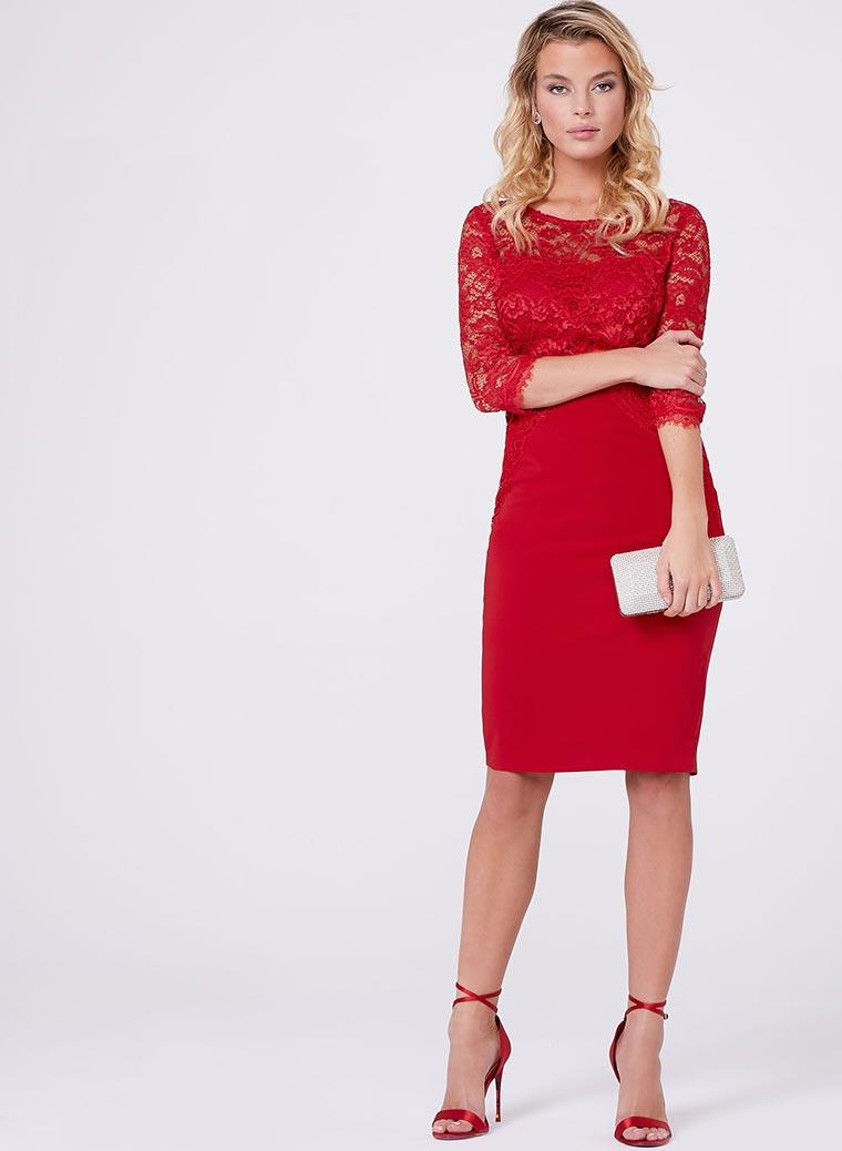 Jax - Illusion Lace Sheath Dress