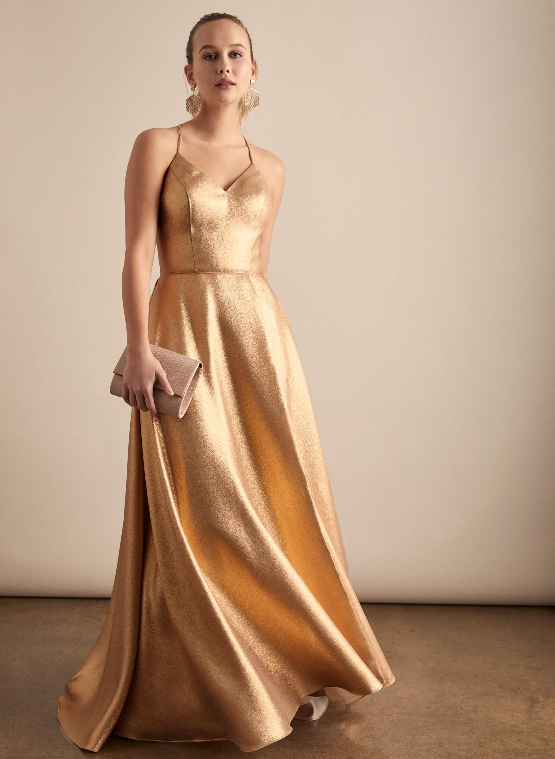 Prom - Melanie Lyne - 2020 - Cachet - Robe métallique à dos lacé