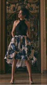 BA Nites - Halter Neck High Low Dress
