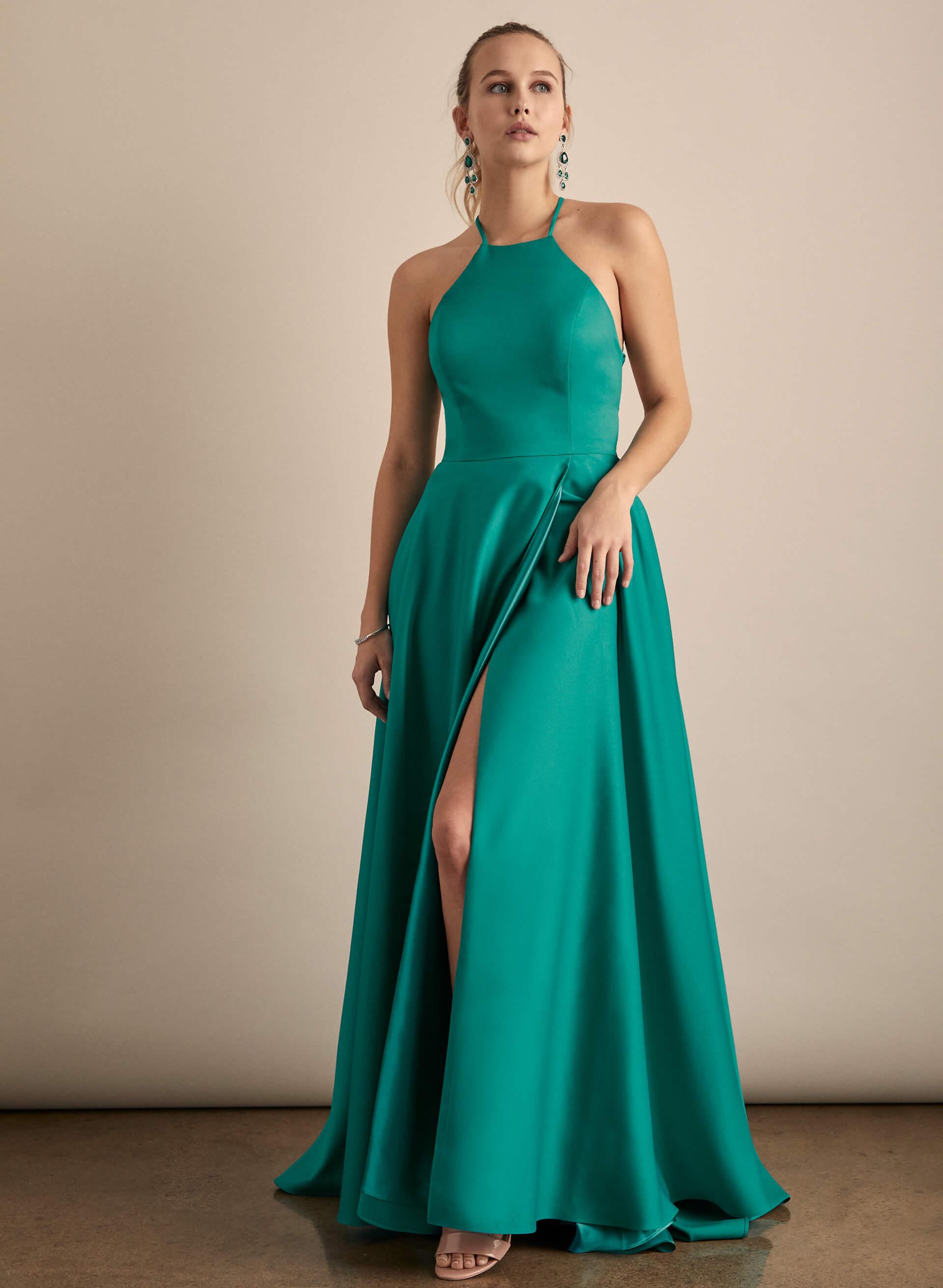 Prom - Melanie Lyne - 2020 - Cachet - Robe à col licou et jupe portefeuille