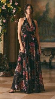 Floral Print Halter Neck Dress