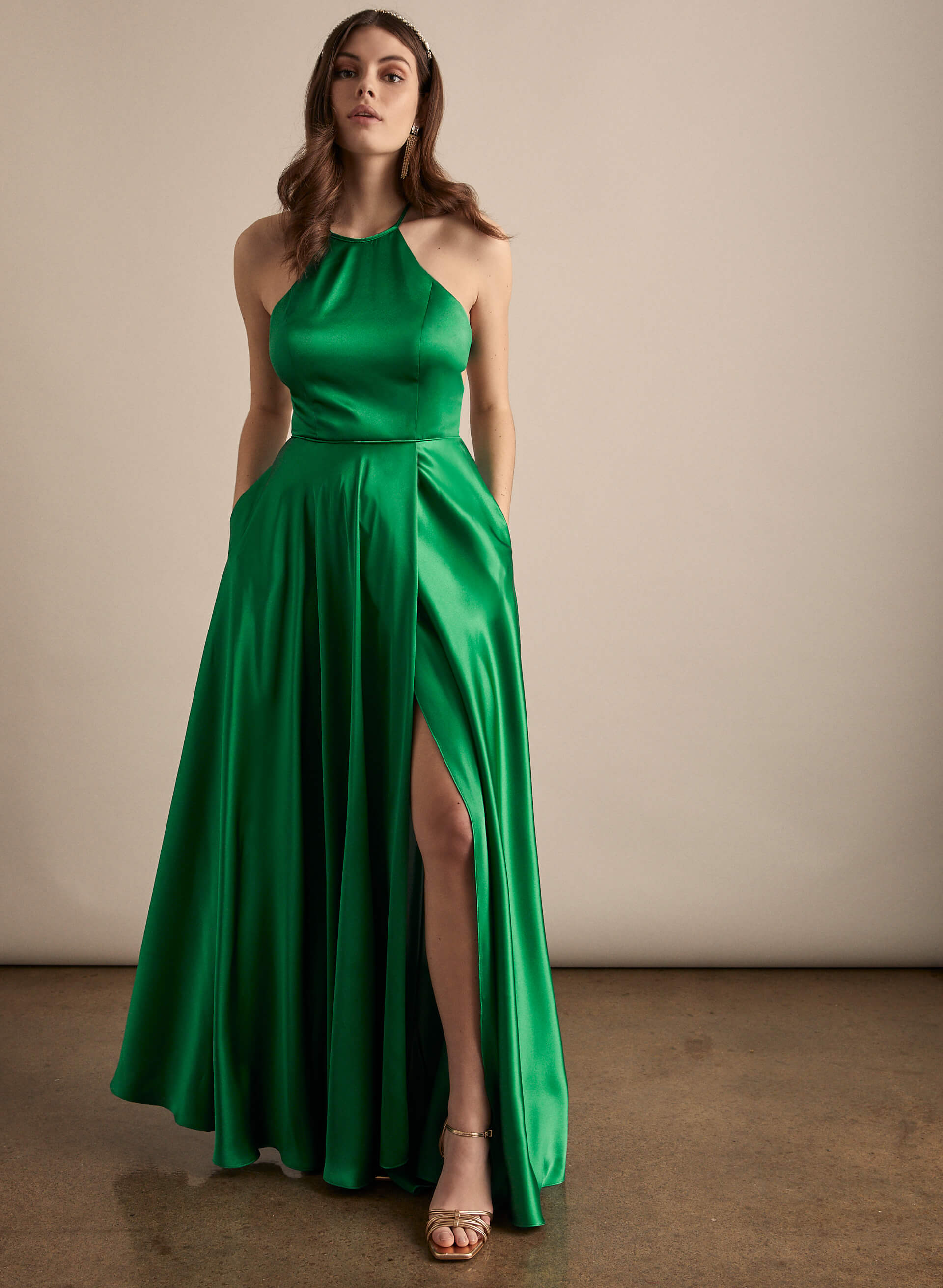 Prom - Melanie Lyne - 2020 - Robe satinée à dos croisé