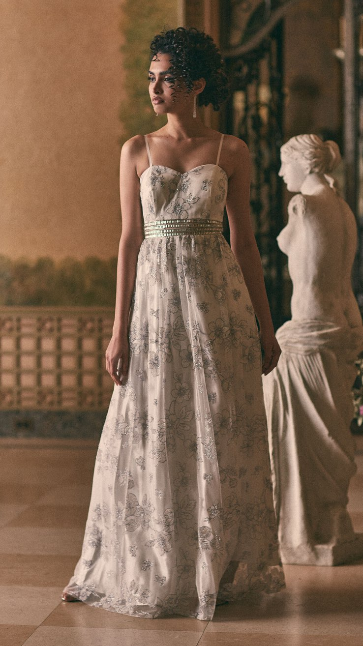 Cachet - Embellished Floral Ball Gown