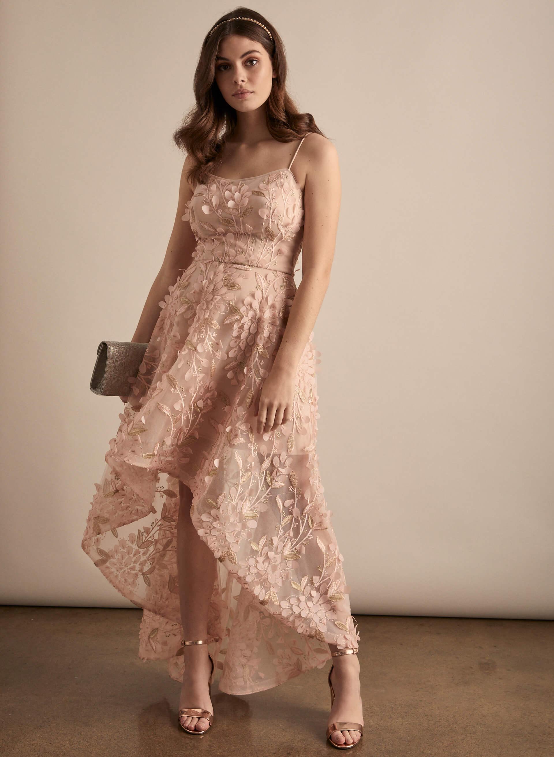 Prom - Melanie Lyne - 2020 - BA Nites - Robe en mousseline et appliqués de feuilles