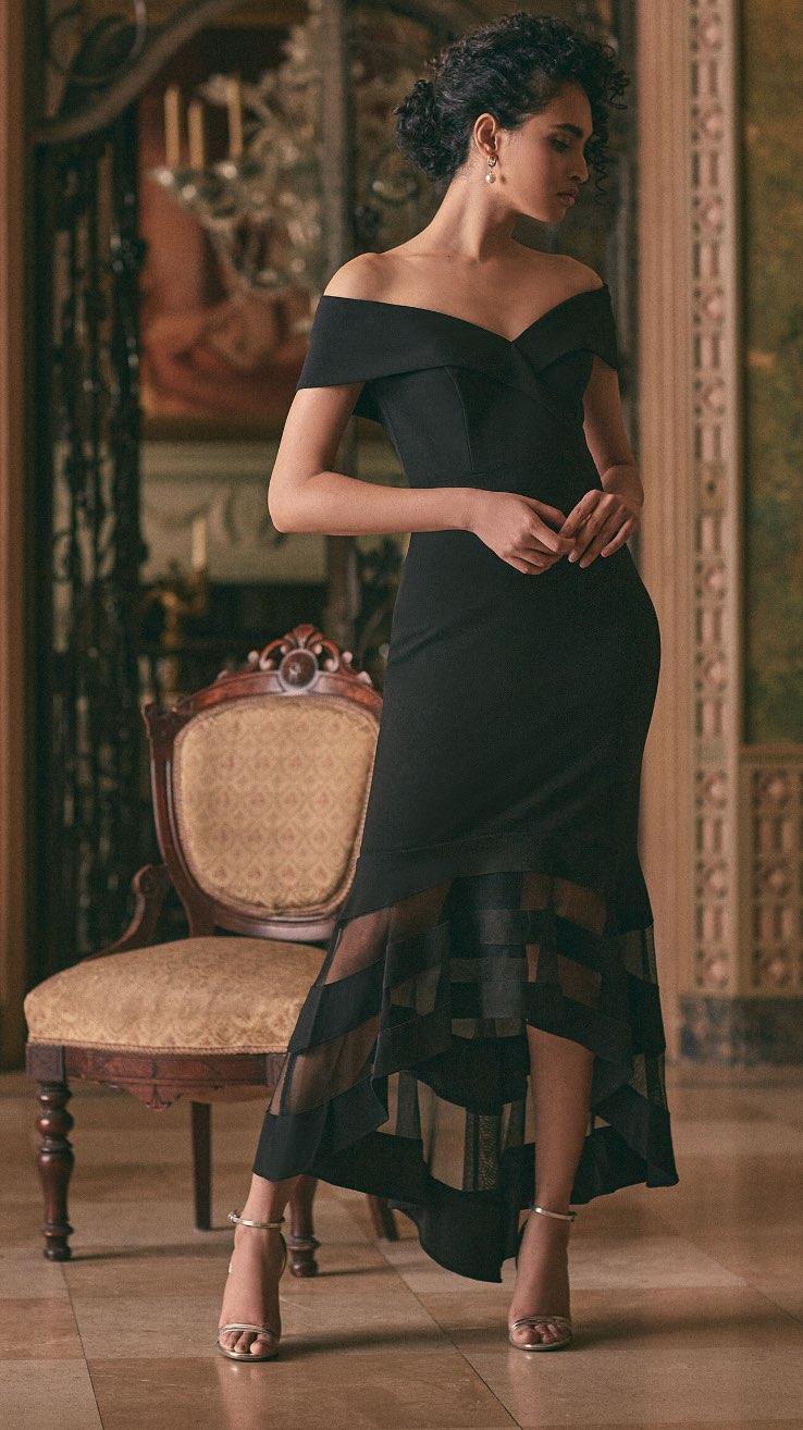 BA Nites - Illusion Detail Dress