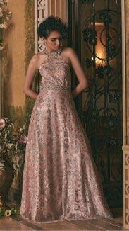 Cachet - Floral Glitter Ball Gown