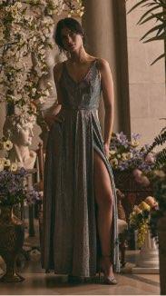 BA Nites - V-Neck Glitter Gown