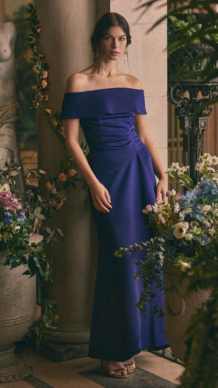BA Nites - Off-the-Shoulder Drape Dress