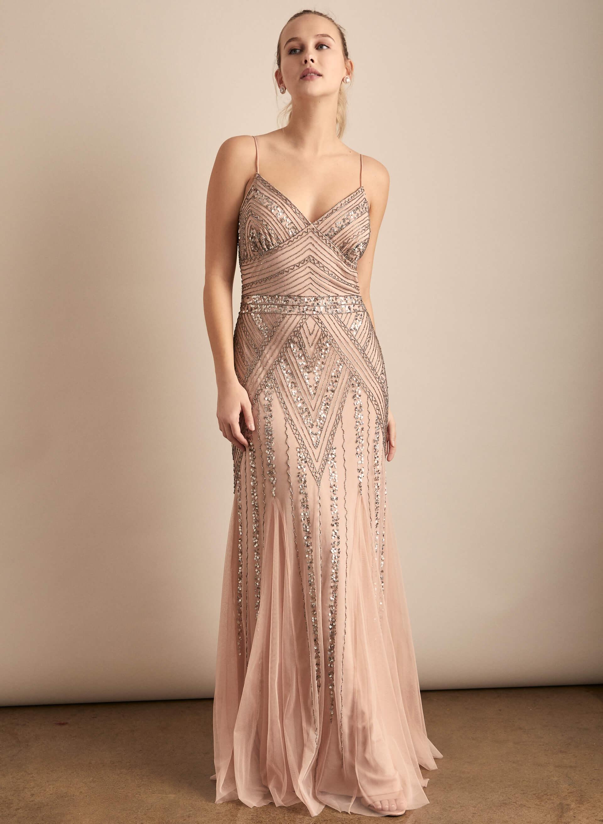 Prom - Melanie Lyne - 2020 - Marina - Robe en maille filet ornementée