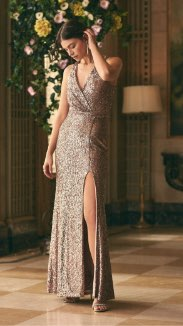BA Nites - Robe fourreau en sequins