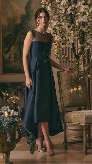 Adrianna Papell - High-Low Satin Dress