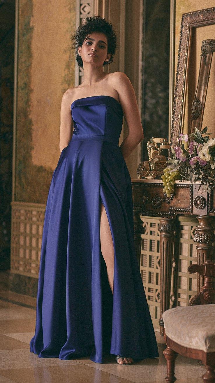 BA Nites - Strapless Satin Dress